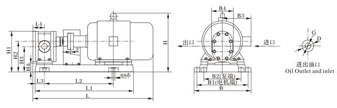 2CY-1.08~2CY-12/12.5整机外型、安装尺寸重量